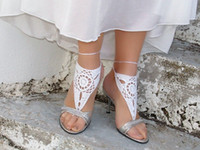 Wholesale Wholesale Crocheted Footless Sandals - Crochet Pineapple Footless Sandal Ankle -2016 new European and American trade jewelry   knitted crocheted anklets   barefoot sandals women