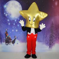 ingrosso costumi della mascotte di grandi dimensioni-NUOVO costume adulto della mascotte del fumetto della dimensione del costume della mascotte del fumetto della grande testa di starman di età Trasporto libero del partito di EPE