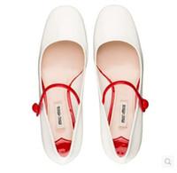 Wholesale Color Block Strap Heels - high quality elegant rhinestone square heel color block women's mary jane shoes