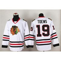 Élégant Hockey Jersey Blackhawks # 19 Hockey Shirts Jonathan Toews Blanc Hommes Sport Jerseys Cheap Hockey Wears Fashion Apparel Outdoor Kits