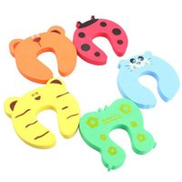 Wholesale animal door stops online - 4pcs Baby Safety Products Cartoon Animal Stop Edge Corner for Children Kids Guards Door Stopper Holder Lock Safety Protector