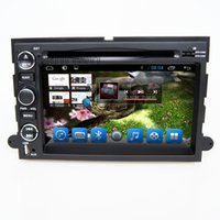 Wholesale Double Din Touch Screen Navigation - Double din gps car dvd navigation sytem built in radio rds bluetooth dual core for ford explorer mustang fusion expedition