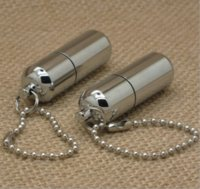 Wholesale Car Capsule - Survival Waterproof Peanut Capsule Lighter Cigarette Cigar Refillable Oil Lighter Torch Key Chain