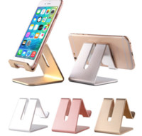 Wholesale Universal T - Universal Aluminum Metal Mobile Phone Tablet Desk holder stand Mobile phone metal stents hot style aluminum alloy stent desktop High-grade t