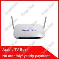 Télécommande gratuite, arabe IPTV Box, 700 plus IPTV arabe Channel TV Box, Android 4.2 WiFi HDMI intelligent Android Mini PC TV Box