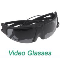 "Wholesale Iphone Video Eyewear - 2014 Portable Eyewear 52"" virtual Video Glasses for Pod iPhone PMP Play games with PS2 PS3 XBOX Wii movies cenima"