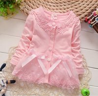 Wholesale Girls Sweet Coat - 2015 autumn pure cotton euramerican floral girls cardigan fashion boutique sweet lady coat sell like hot cakes BH1122