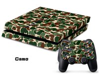 Wholesale Playstation4 Controller - Camouflage pattern Vinyl Decals For PS4 Skin Sticker 1 Console Skin+2 Controller Stickers For Playstation4 Protective