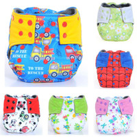 Wholesale Double Gussets - Wholesale-Happy Flute AIO Cloth Diaper Reusable Diapers for Children, Breathable Bamboo Charcoal Double Gussets, Waterproof Pocket Diaper