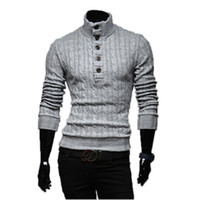 Wholesale yellow knitting jacket for sale - Group buy Winter New Fashion Brand Men s Sweaters Thick Coat Long Sleeved Turtleneck Male Jacket Casual Sweater High Collar Men Sweater Si