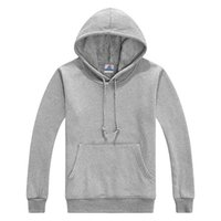 Wholesale Men Plain Hoodies - Wholesale-2015 Hot Sale 100% Cotton With Short Villi Inside Men's Blank Plain Hoodies High Quality 9 colors Men Sports Suit