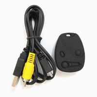 Wholesale Mini Usb Wireless Video Camera - HD 720P Mini DV Car Key Wireless Video Cameras Camcorder Recorder DVR 808 USB Disk camera with AV out