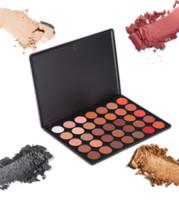 Wholesale Eyeshadow Logo - NO LOGO 35 color eyeshadow Palette 18 design 35A 35B 35C 35D 35E 35F 35H 35N 35O 35OS 35P 35T 35W eyeshadow Cosmetic