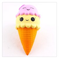 kawaii eiscreme squishy großhandel-New Kawaii Squishies Ice Cream Langsam steigende Kawaii Squishies Handyanhänger Jumbo Squishy Fidget Toys Charms Angst Stressabbau Toys Party