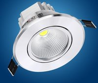 Lampe dimmable LED 3W 5W 7W 10W 15W COB LED haute puissance Spot Light Downlight Down Lampe 100-240V 110V 220V 85-265V shippng gratuit