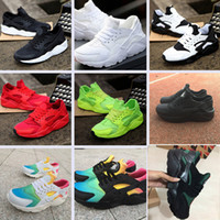 Wholesale Rainbow Shoes - New Huarache Ultra Running Shoes For Men Women,Woman Mens Rainbow Black White Air Huaraches Huraches Sports Sneakers Athletic Trainers