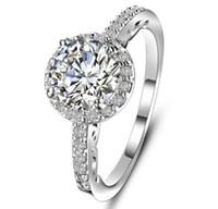 anillos de zafiro natural plata de ley al por mayor-Moda deslumbrante de la mujer joyería de la marca 925 piedras preciosas naturales piedras preciosas de zafiro blanco Birthstone novia anillo de compromiso de boda