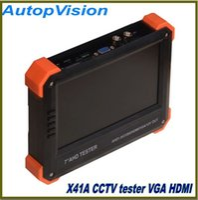 "Wholesale Analog Monitors - 7"" AHD camera tester CCTV tester monitor HD 1080P AHD analog camera testing VGA HDMI input 12V2A output"