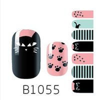 Wholesale Christmas Nail Polish Stickers - Nail Beauty Nature Colorful Flower Diy Nail Art Polish Foils Decal Stickers Tips Wraps Decoration Water Transfers