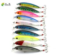 Barato Atrair Vendas China-Venda quente 10pcs Wobbler Fish Fishing iscas china fit Peças de pesca crankbait peche bass minnow jerkbait iscas artificiais de pique