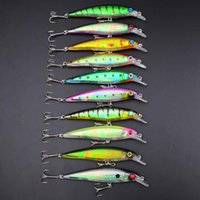 Wholesale Bait Minnows Sale - 2015 Hot Sale Rushed Hard Baits Swimbaits Plastic Minnow Fishing Lures Bass Crankbait Artificial 11cm 13.4g 4#hook Swimming Depth 0.6-1.8m