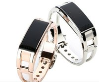 Wholesale Vibration Watch Phone - Fashion D8 Bluetooth Smart Bracelet Caller Display Phone Calls Vibration Alert Caller ID Time OLED Display Wireless Bluetooth Wrist Watch