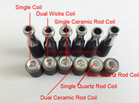 Wholesale Ego D - dual coil 510 skillet wax atomizer double coil skillet quartz Coil atomizer Ego-M7 D atomizer wax burning device donut vapor D vaporizer