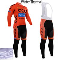 Wholesale Fleece Thermal for winter ccc cycling jersey sport suit mountain bike ropa ciclismo bicycle MTB bicicleta clothing D gel pad BIB