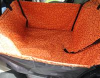 alfombrillas eco amigable al por mayor-Envío libre de doble asiento Oxford impermeable asiento del coche del animal doméstico Estera del coche del animal doméstico perro cojín estera Perro Gato Mascota Coche Estera Cubierta de Asiento