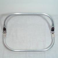 "Wholesale Metal Handbag Frames - Luggage Bags Bag Parts Accessories 10""x4"" Metal tubular internal purse frames, handbag hinges handles handbag elegant"
