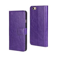 Wholesale Elegant Horse - For iPhone 6 6S Plus Crazy Horse Elegant PU Wallet Leather Case