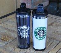 Wholesale Travel Mugs Double Wall - Starbucks Double Wall Stainless Steel Mug Flexible Cups Coffee Cup Mug Tea   Travelling Mugs  Tea Cups Wine Cups