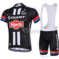 Wholesale Giant Cycling Jackets - Roupa Ciclismo 2015 Cycling Jersey Set Breathable Alpecin Giant Cycling Jackets Cycling Clothes Padded Shorts Bib Shorts Cycling jerseys