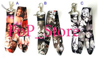 Wholesale Marilyn Monroe Key Lanyards - DHL free shipping - Wholesale - Marilyn Monroe key chain Lanyard ID phone strap  ell Phone Straps & Charms wholesalers Mix order