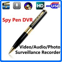 Wholesale High Quality Sd Card - High Quality Spy Pen Camera Spy Pen DVR Video Sound Recorder with Micro SD Card Camera Hidden Microphone DVR