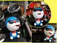 Wholesale Car Accessory Shaking Toy - Car Dashboard Ornament Decoration Very Cute Dolls Shake Head Cigar Cat Toys Smoke Styling Creative Birthday Gift