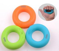 Barato Toque Mão Única-3 pcs / set Sport Muscle Power Training Rubber Ring Strength Hand Grip Exerciser Fit