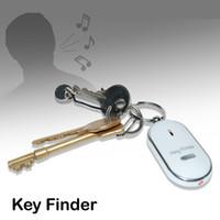 Wholesale lost cell phone finder free resale online - Free DHL Remote Key Finder Locator Find Lost Keys Mobile Wallet Chain Mobile finder Purse Finder Keychain Whistle Sound Control
