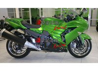 Wholesale Zx14r Custom Paint - Painted green and black custom plastic injection molding fairing Kawasaki ZX-14R Ninja 2012-2013 4