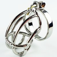 Wholesale Hot Cock Cages - The Hottest Chastity Men's Cock Cage Stainless Steel Ring Adult BDSM Sex Product Bondage Fetish Chastity Belt Device