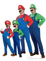 Günstige 2016 Halloween Cosplay Kostüme Super Mario Luigi Brüder Fancy Dress Up Party Nettes Kostüm Für Erwachsene Kinder CS003