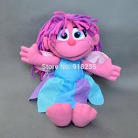 Wholesale-Free Shipping Mignon GENUINE Sesame Street Muppets ABBY CADABBY Peluches Fairy Wings 12