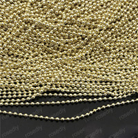 Wholesale Wholesale Bracelets Metal Slide Letters - jewelry components diy brass chains round beads light gold plated bracelets necklaces wholesales new copper metal free ship 2.4mm 1.5mm 30m