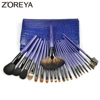 Wholesale Lady Goats - Zoreya Brand Top Quality 22pieces  Set Lady Make Up Brushes Goat Hair Professional Beauty Makeup Brushes Set for Women Cosmetic Tool