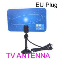 Digital TV Antenna Indoor HDTV DTV HD VHF UHF piatto design High Gain Plug UE