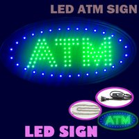 Wholesale Office Usa Wholesale - Hot sale ship to USA 19''x10''x0.5'' LED ATM sign green colour sign