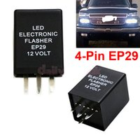 2PCS 4-Pin EP29 LED Flasher Decoder 4 Pines Electronic Relay Car Fix LED SMD Señal de giro Error de luz parpadeante intermitente 12V 10A ABS