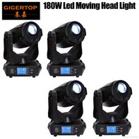 Rabatt Preis 4 Pack Gigertop 180 Watt Tyanshine Led Moving Head Licht 3-Facet Rotierenden Prisma Wirkung Frost Objektiv Fan Cooled CE ROHS