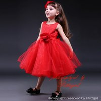 Wholesale Layered Evening Dress Knee Length - Pettigirl Baby Girls Princess Party Flower Girl Dress Party Evening Wedding Prom Layered Tulle Dresses Kids Clothes GD80905-13