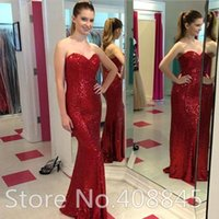 Sequin Lange Meerjungfrau Abendkleider Red Carpet Celebrity Sexy Prom Kleider Long Maxi Plus Size Brautjungfer Kleider 2015